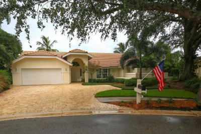 Jupiter Single Family Home For Sale: 18834 Cassine Holly Court