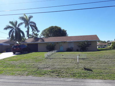 Lake Worth Single Family Home For Sale: 6869 Bayshore Drive