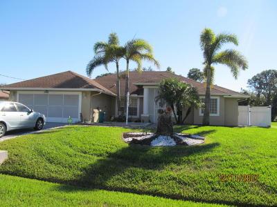 Port Saint Lucie Single Family Home For Sale: 1098 SW Sudder Av Avenue