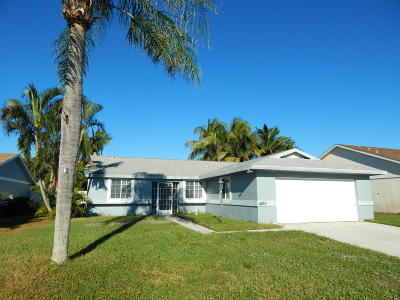 West Palm Beach Single Family Home For Sale: 4859 Classic Lane