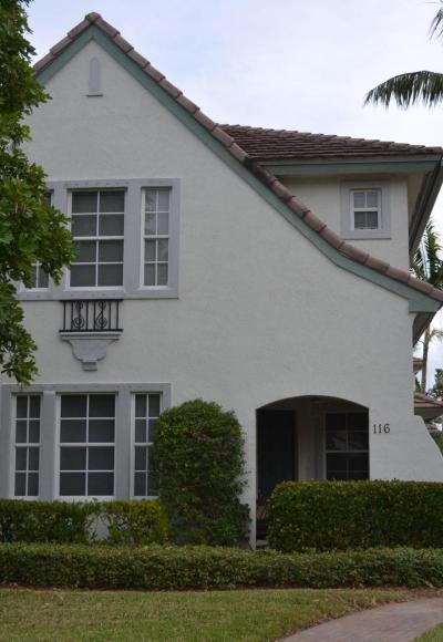 Palm Beach Gardens Townhouse For Sale: 116 Evergrene Parkway