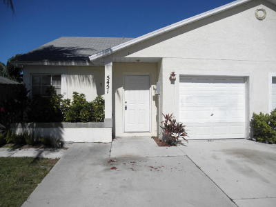 West Palm Beach Single Family Home For Sale: 5451 Pinnacle Lane