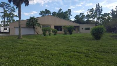 Lake Worth Single Family Home For Sale: 8812 Yearling Drive