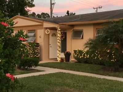 West Palm Beach Single Family Home For Sale: 2532 Dudley Drive E #G