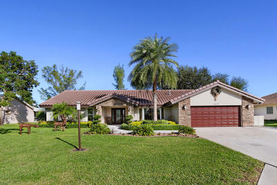 Boynton Beach Single Family Home For Sale: 4647 Bucida Road
