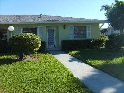 delray beach Single Family Home Contingent: 1150 Calamondin Terrace #42-D