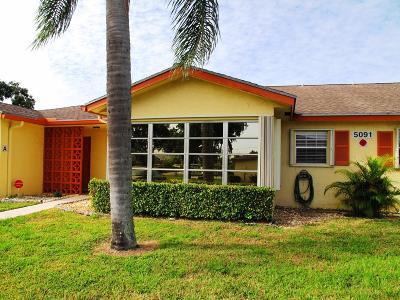 Delray Beach Single Family Home For Sale: 5091 Lakefront Boulevard #B