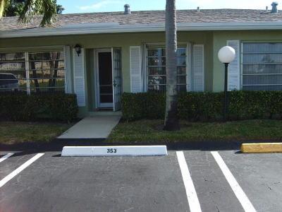 Delray Beach Single Family Home For Sale: 1040 Flame Vine Avenue #12-C