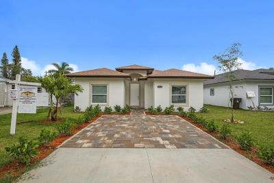 West Palm Beach Single Family Home For Sale: 1012 Francis Street
