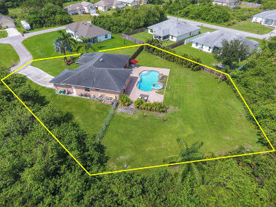Port Saint Lucie Single Family Home For Sale: 6242 NW Gull Court