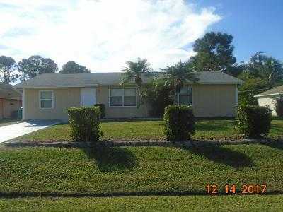 Port Saint Lucie Single Family Home For Sale: 2032 SW Judith Lane