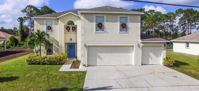 Port Saint Lucie Single Family Home For Sale: 4074 SW Brunswick Street