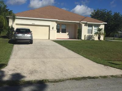 Port Saint Lucie Single Family Home For Sale: 2902 SW Bright Street