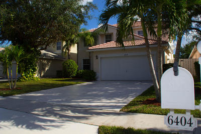 Greenacres Single Family Home Contingent: 6404 Suntree Court