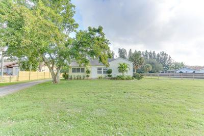 Lake Worth Single Family Home For Sale: 5398 1st Road