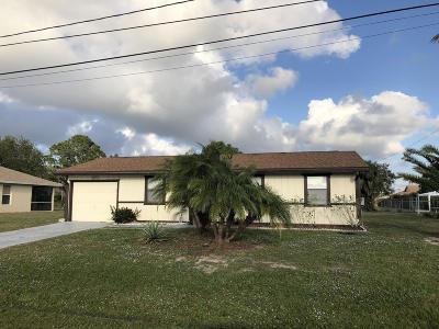 Port Saint Lucie Single Family Home For Sale: 2331 SW Susset Lane