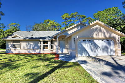 Loxahatchee Single Family Home Contingent: 15703 74th Street