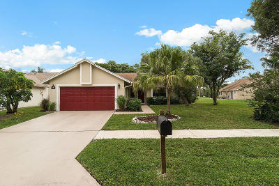 Boynton Beach Single Family Home Contingent: 1822 Banyan Creek Circle