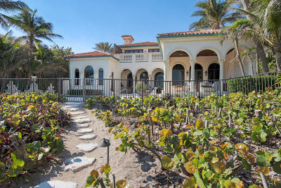 Gulf Stream, Ocean Ridge Single Family Home For Sale: 3813 Ocean Boulevard