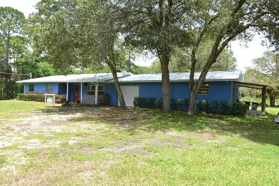 Palm City Single Family Home For Sale: 4499 SW Cherokee Street