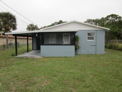 Fort Pierce Single Family Home For Sale: 1301 15th Street