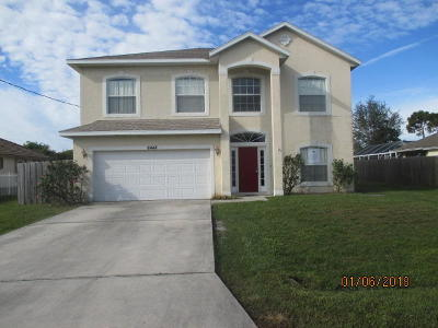 Port Saint Lucie Single Family Home For Sale: 6448 NW Fagan Street