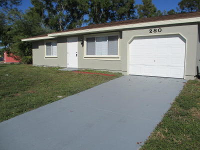 Port Saint Lucie Single Family Home For Sale: 280 SW Kimball Circle
