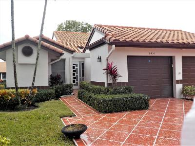 Delray Beach Single Family Home For Sale: 6451 Pointe Pleasant Circle