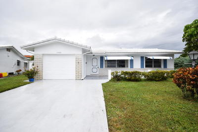 Boynton Beach Single Family Home For Sale: 1505 SW 21st Street