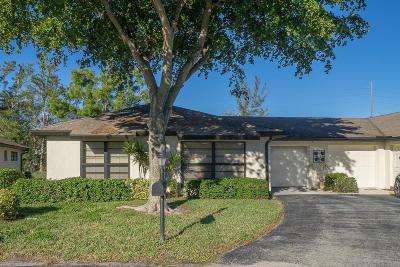 boynton beach Single Family Home For Sale: 4867 Hawkwood Road #A
