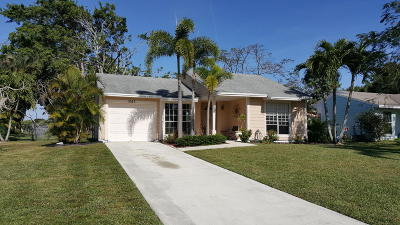 Boynton Beach Single Family Home For Sale: 5327 Courtney Circle