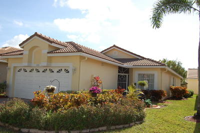 Boynton Beach Single Family Home For Sale: 7748 Cherry Blossom Street