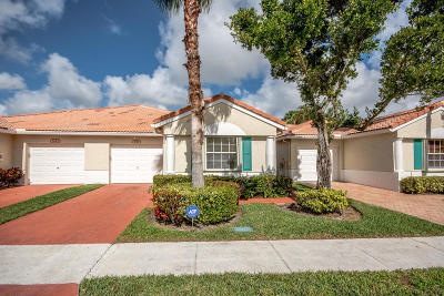 Delray Beach Single Family Home For Sale: 6119 Floral Lakes Drive