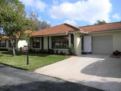 Boynton Beach Single Family Home For Sale: 9930 Frangipani Tree Way #A