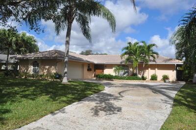 Palm Beach Gardens Single Family Home Contingent: 4079 Ilex Circle