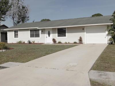 Port Saint Lucie Single Family Home Contingent: 371 SE Voltair Terrace