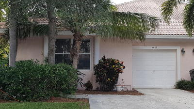 Delray Beach Single Family Home For Sale: 2489 W Coral Trace Place