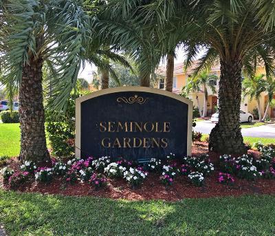 Palm Beach Gardens Townhouse For Sale: 6086 Seminole Gardens Circle