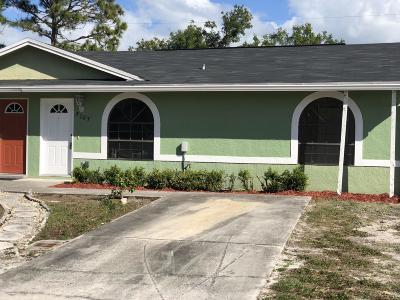 Stuart Single Family Home For Sale: 5707 SE Tangerine Boulevard