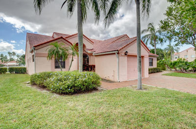 Delray Beach Single Family Home Contingent: 7777 Lexington Club Boulevard #A