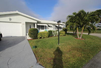 Boynton Beach FL Single Family Home For Sale: $189,900