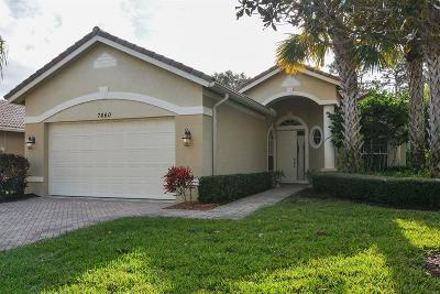 Port Saint Lucie Single Family Home For Sale: 7660 Greenbrier Circle
