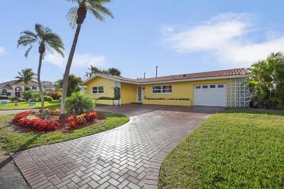 Singer Island Single Family Home For Sale: 1111 Powell Drive
