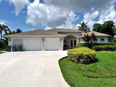 Port Saint Lucie Single Family Home For Sale: 2472 SE Elston Street