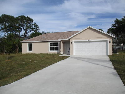 Port Saint Lucie, Saint Lucie West Single Family Home For Sale: 2281 SE Monitor Street