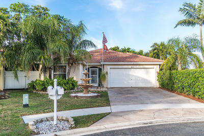 Lake Worth Single Family Home For Sale: 8013 Pelican Harbour Drive
