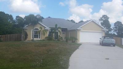 Port Saint Lucie, Saint Lucie West Single Family Home For Sale: 2101 SW Gray Beal Avenue