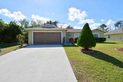 Port Saint Lucie Single Family Home For Sale: 1278 SW Marmore Avenue