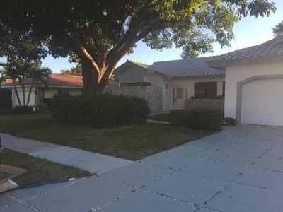 Boca Raton Single Family Home For Sale: 19552 Sedgefield Terrace
