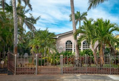 Lake Worth Single Family Home For Sale: 1301 Lakeside Drive